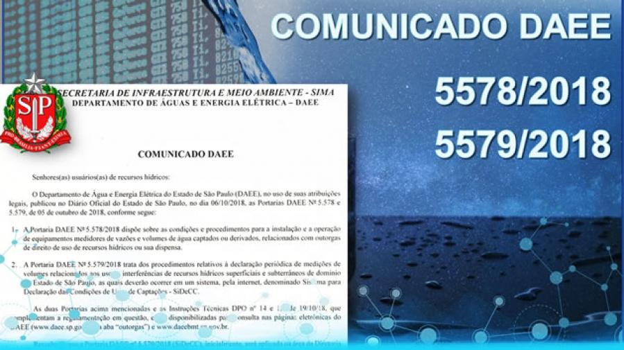 Comunicado do DAEE